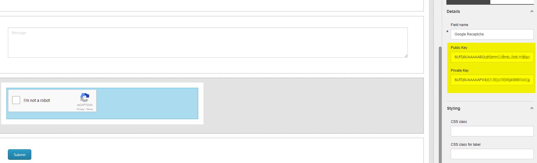 Sitecore 9 Forms – Google reCAPTCHA form element |  Net | Sitecore blog